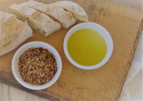 extra virgin olive oil, dukkah & ciabatta